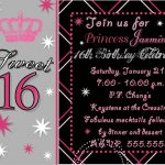 Sweet 16 Birthday Invitations Free Printable | Party Ideas   Free Printable Sweet 16 Birthday Party Invitations