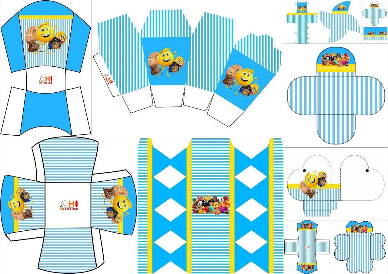 Sweet 16 Emoji: Free Printable Boxes.   Oh My Sweet 16! - Free Sweet 16 Printables