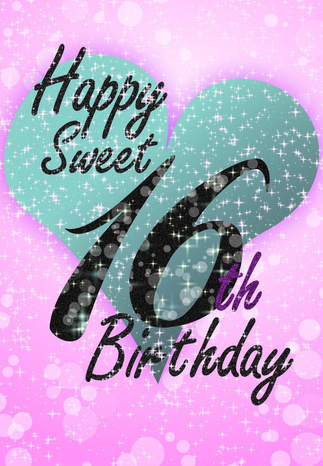Sweet 16 - Free Printable Birthday Card   Greetings Island - Free Sweet 16 Printables