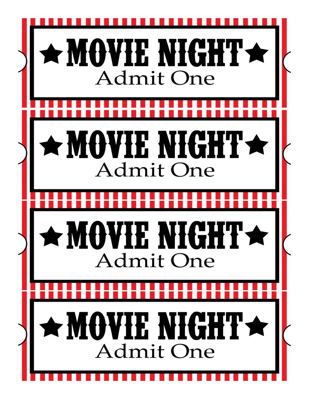 Sweet Daisy Designs: Free Printables: Home Movie Theatre Night | Diy - Free Movie Night Printables