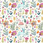 Sweet Watercolor Bunny Gift Wrap   Free Printable   Tinselbox   Free Printable Wrapping Paper Sheets