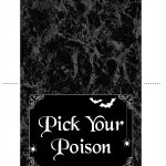 Table Tent For The Halloween Table (Free Printable)   Free Printable Table Tents