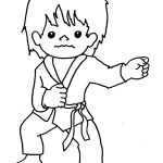 Tai Kwon Do | Tae Kwon Do Colouring Pages | Coloring | Karate Boy   Free Printable Karate Coloring Pages