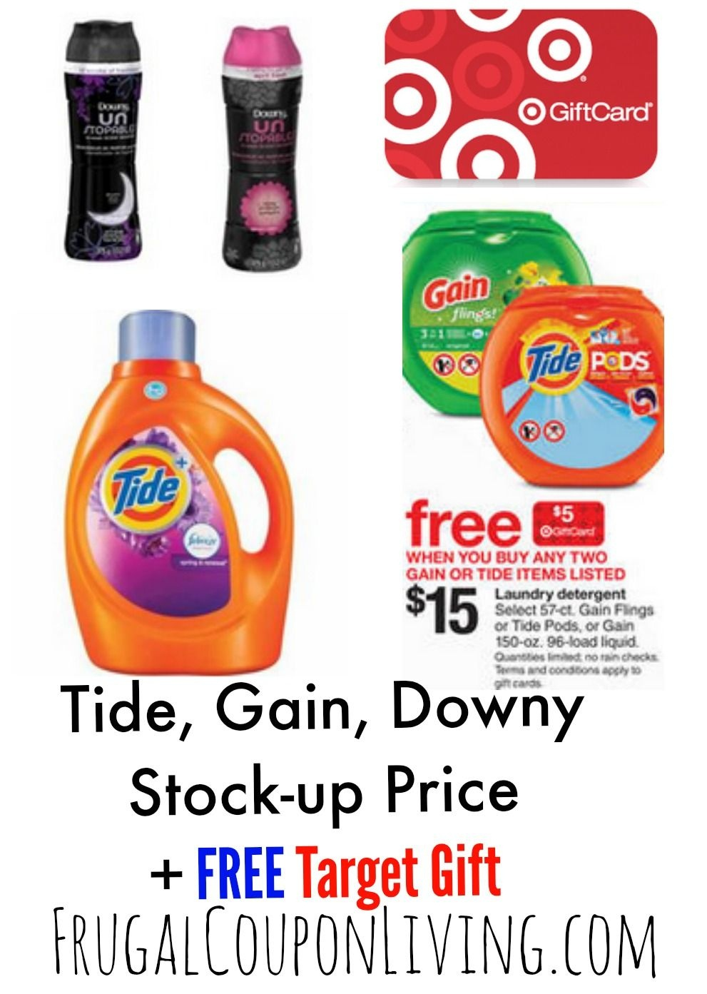 Target Laundry Detergent Deals + Tide & Downy Printable Coupons - Free Printable Gain Laundry Detergent Coupons