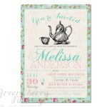 Tea Party Invitation Templates To Print | Free Printable Tea Party   Free Stork Party Invitations Printable
