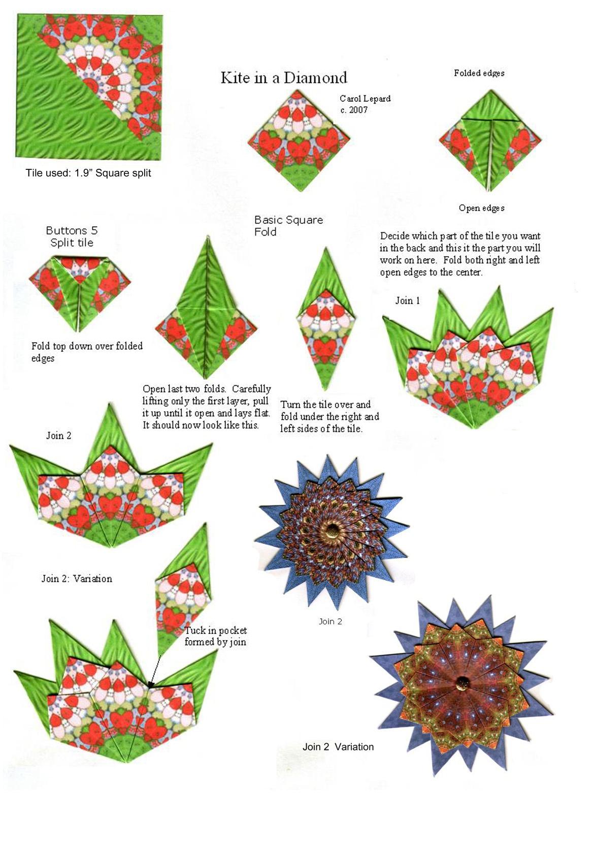 Teabag Fold Instructions - Free Printable Tea Bag Folding Patterns
