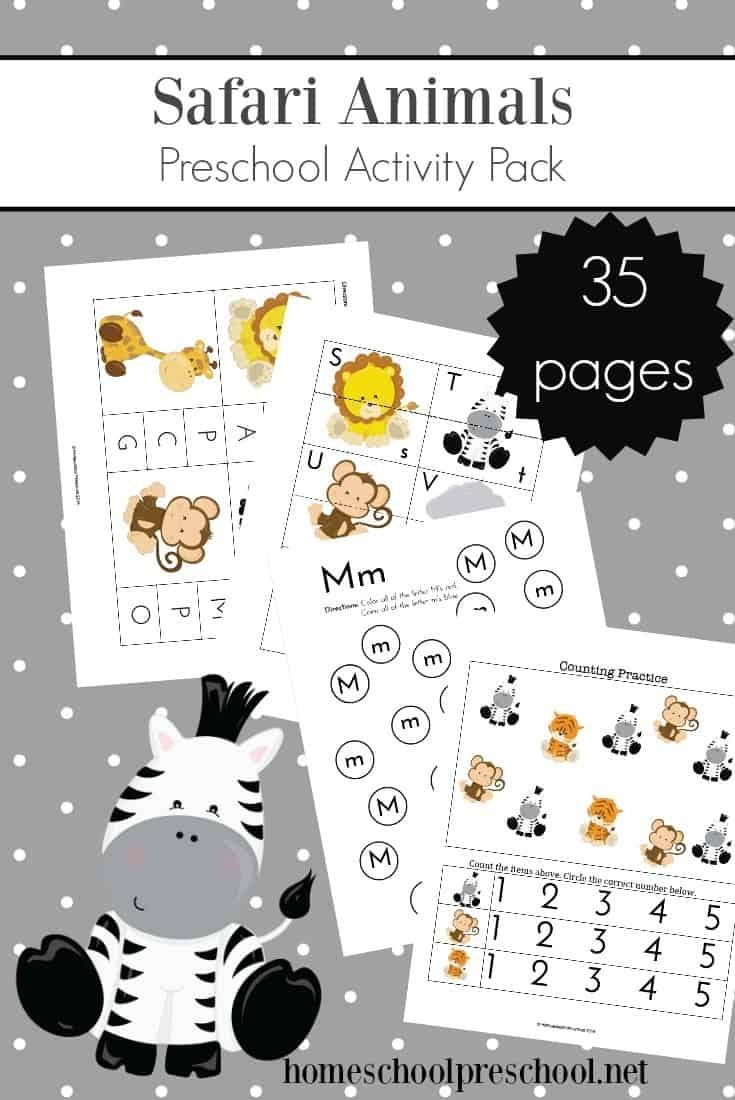 Teach Preschool With Free Jungle Animal Printables - Free Jungle Printables