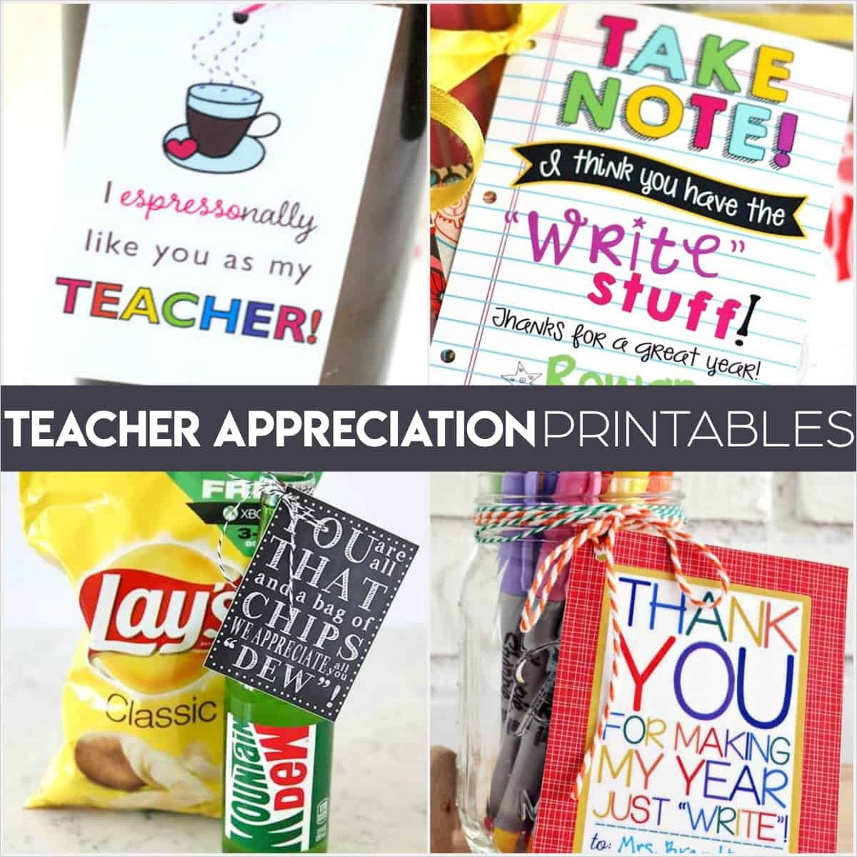 Teacher Appreciation Printables: Fun Free Tags For Teacher Gifts! - Take Note I Think You Are Awesome Free Printable