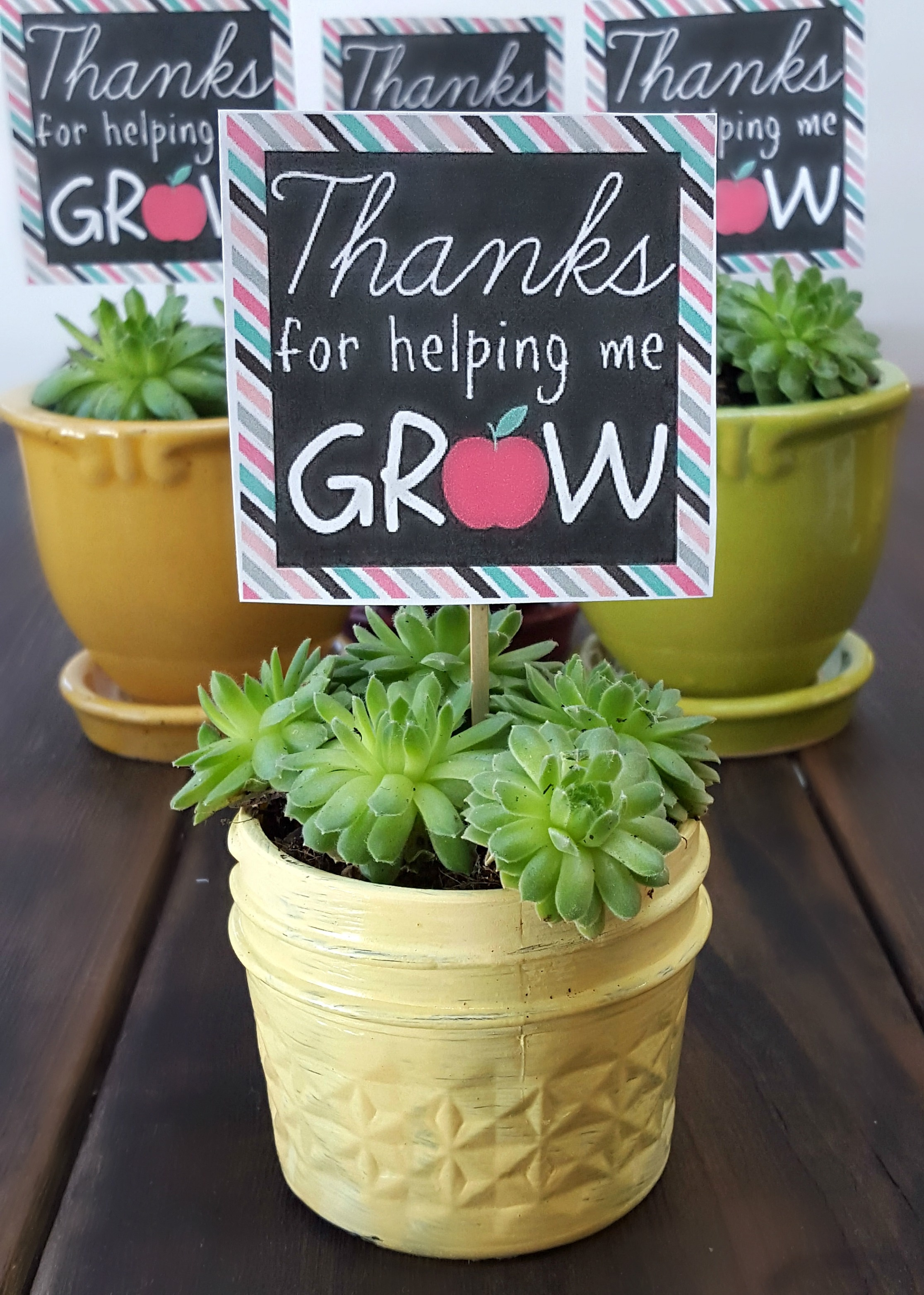 Teacher Appreciation Thanks For Helping Me Grow Printable - Three - Thanks For Helping Me Grow Free Printable
