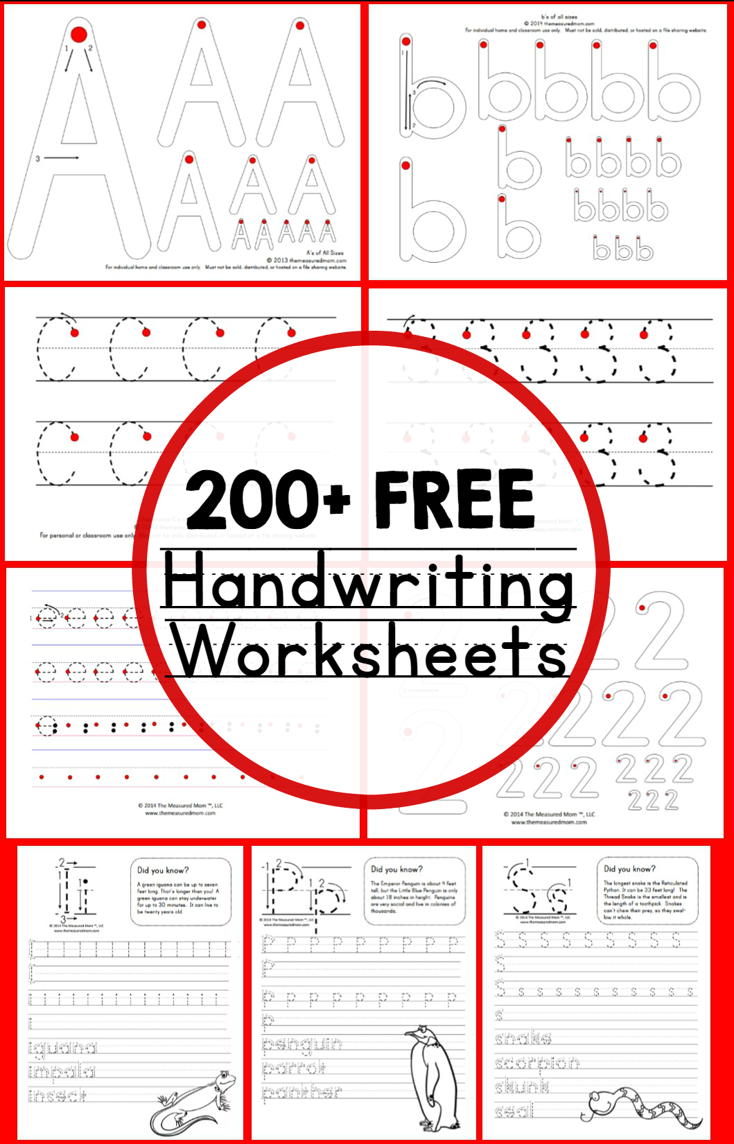 Teaching Handwriting - The Measured Mom - Free Printable Practice Name Writing Sheets