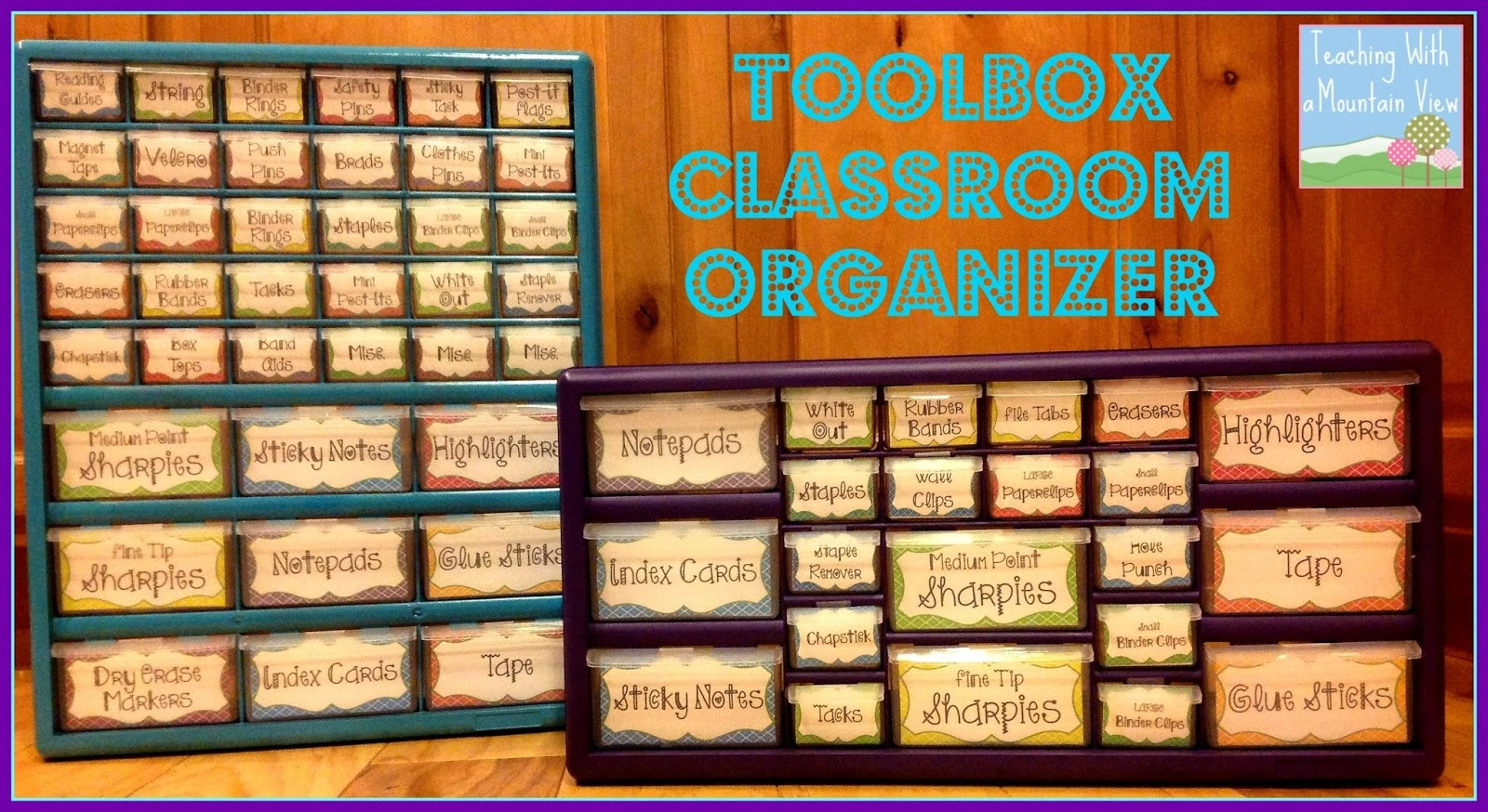 Teaching With A Mountain View: Teacher Toolbox Organizerat Last! - Free Printable Teacher Toolbox Labels
