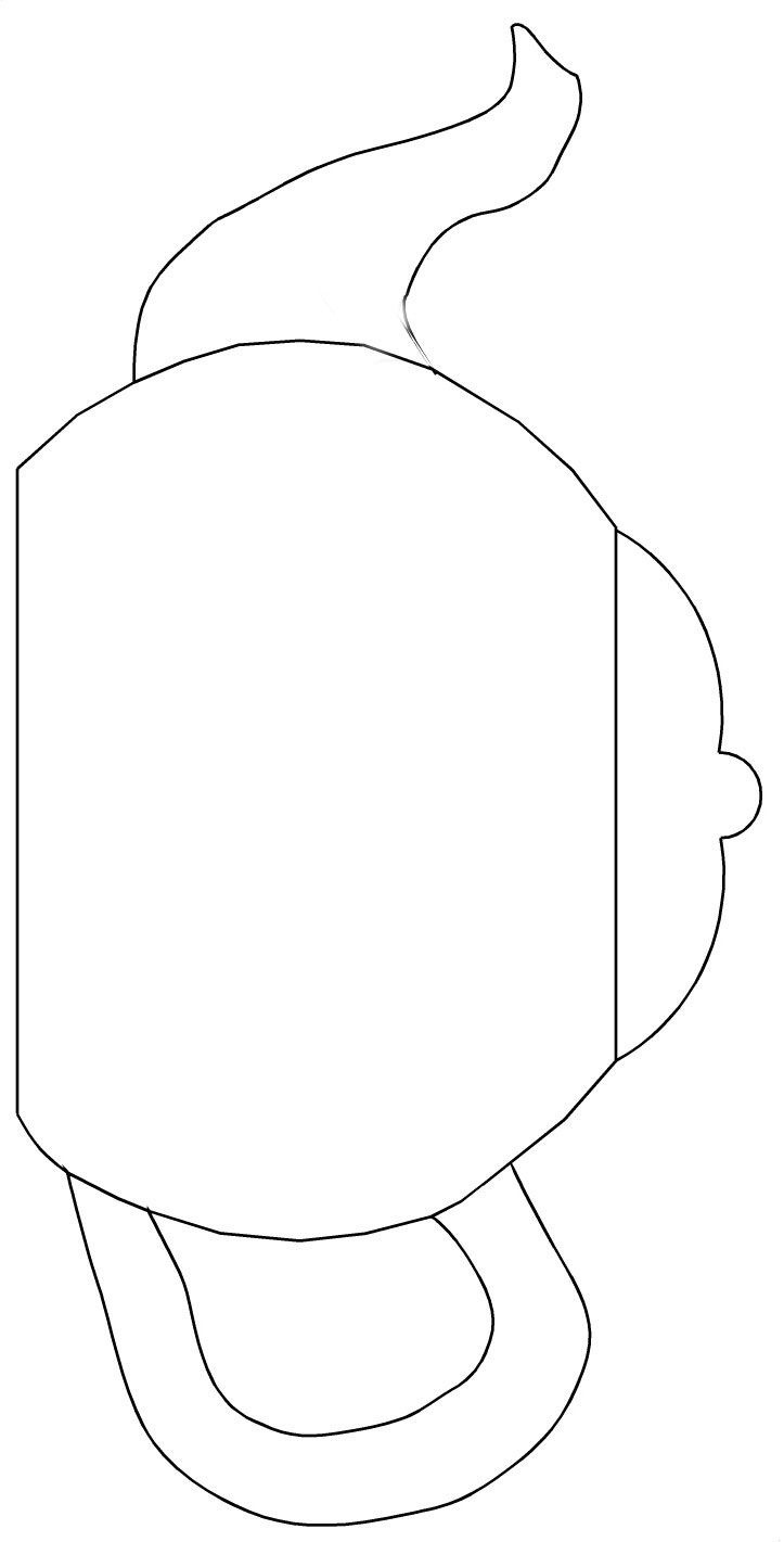 Teapot Templates Free Printable | Cut The Teapot, Handle And Spout - Free Printable Teacup Template