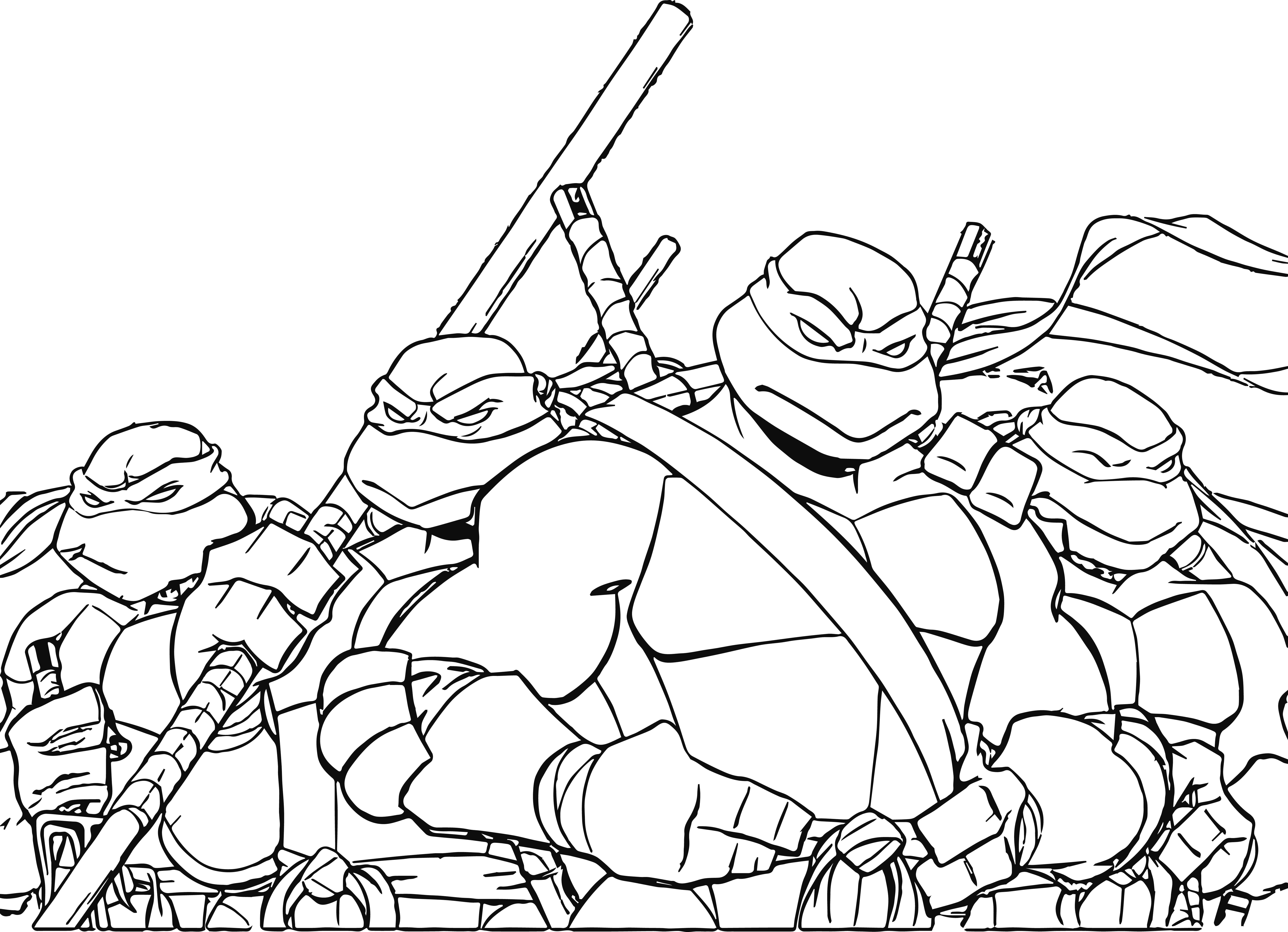 Teenage Mutant Ninja Turtles Pictures To Print Coloring Pages - Teenage Mutant Ninja Turtles Printables Free