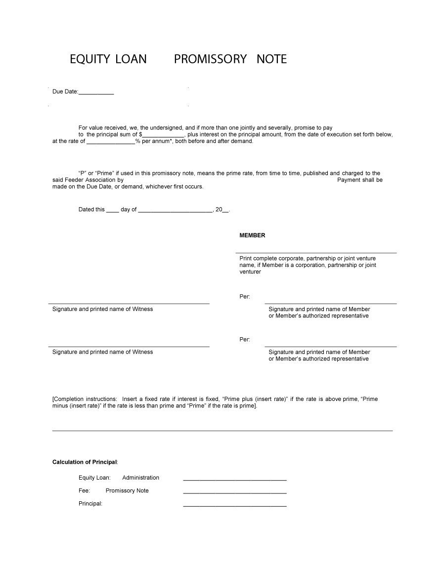 Template For A Promissory Note On A Personal Loan - Kaza.psstech.co - Free Printable Promissory Note For Personal Loan