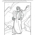 Ten Commandments Colornumber | Ten Commandments Bible Activities   Free Printable Ten Commandments Coloring Pages