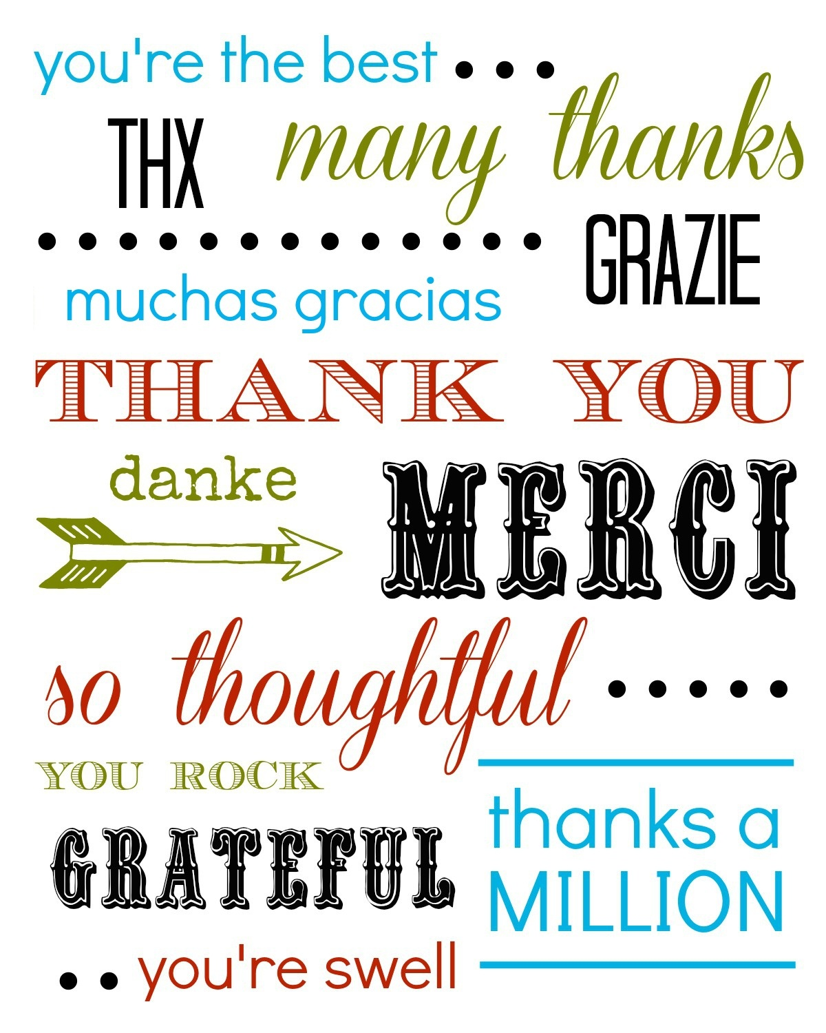 Thank You Card Free Printable - Free Printable Custom Thank You Cards