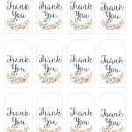 Thank You Gift Tags | Gift Ideas | Thank You Tag Printable, Wedding   Free Printable Thank You Tags