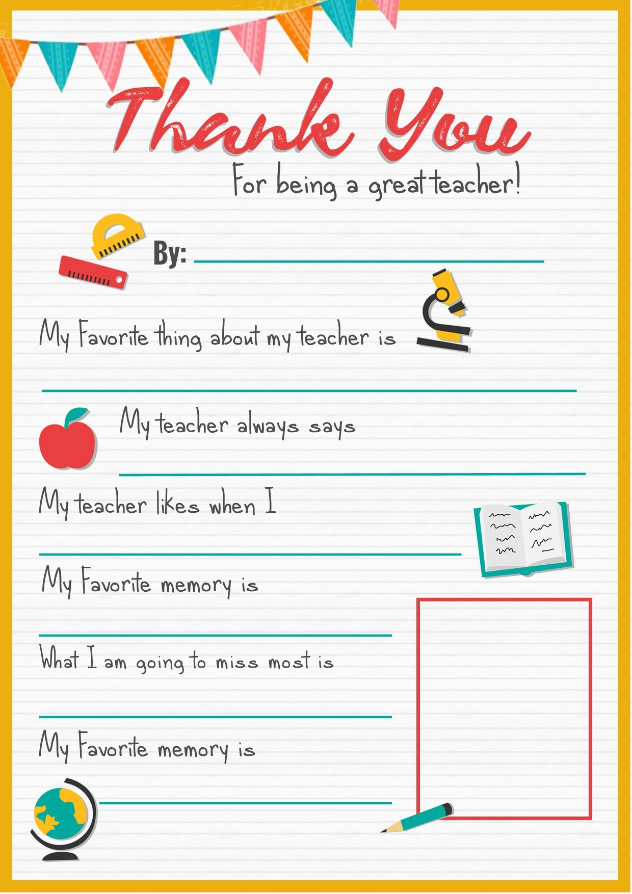 Thank You Teacher - A Free Printable   Stay At Home Mum   Back To - Thank You Teacher Printables Free