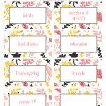 Thanksgiving Thankfulness With Free Printable Cards   Free Printable Thanksgiving Cards
