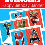 The Avengers Happy Birthday Printables. Looking For A Free Superhero   Free Avengers Birthday Party Printables