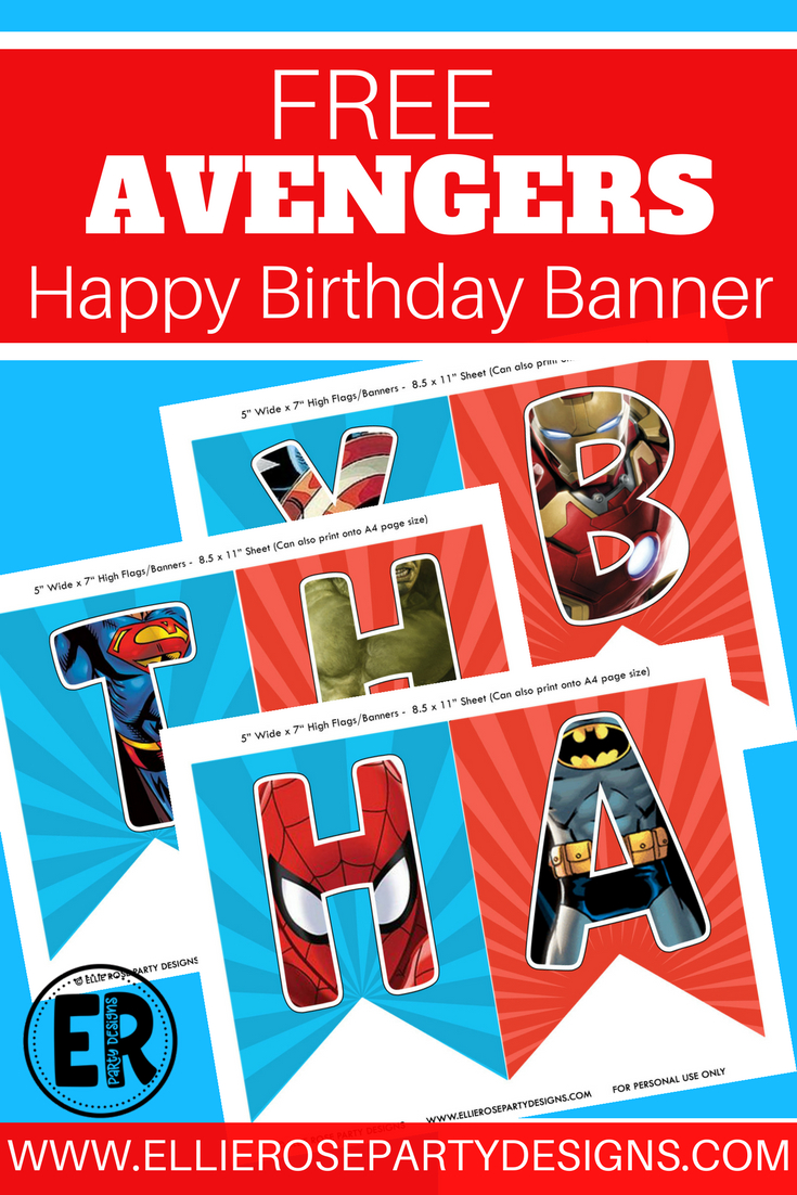 The Avengers Happy Birthday Printables. Looking For A Free Superhero - Free Avengers Birthday Party Printables