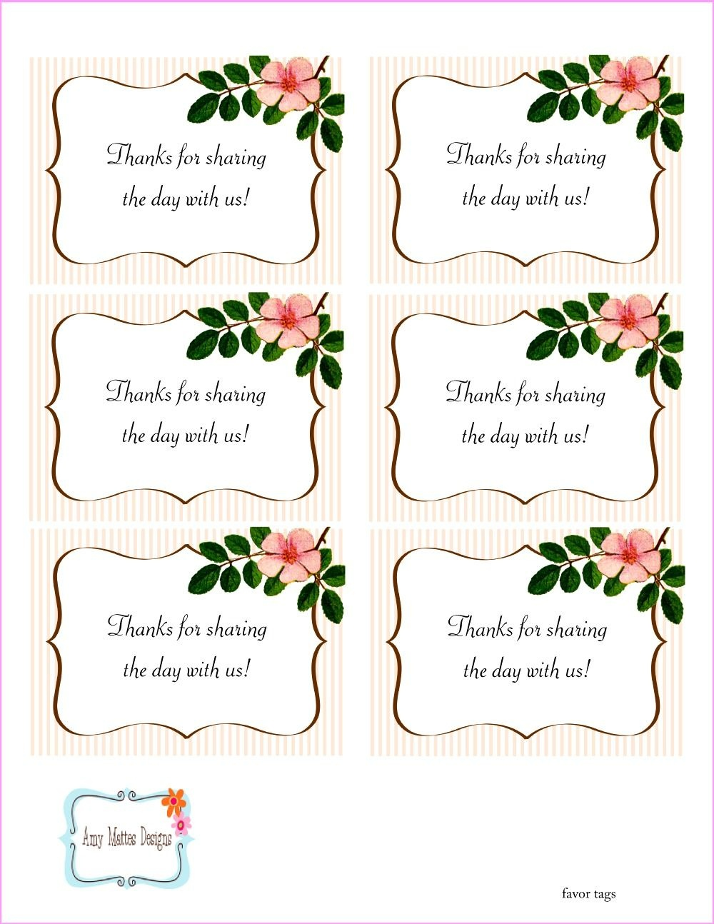 The Beautiful Wedding Favor Tags As Our Identity: Free Printable - Free Printable Wedding Favor Tags