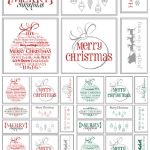 The Best Free Christmas Printables – Gift Tags, Holiday Greeting   Christmas Name Tags Free Printable