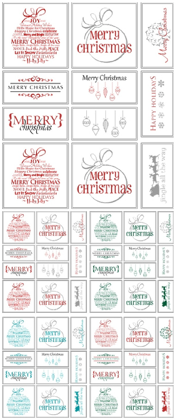 The Best Free Christmas Printables – Gift Tags, Holiday Greeting - Christmas Name Tags Free Printable
