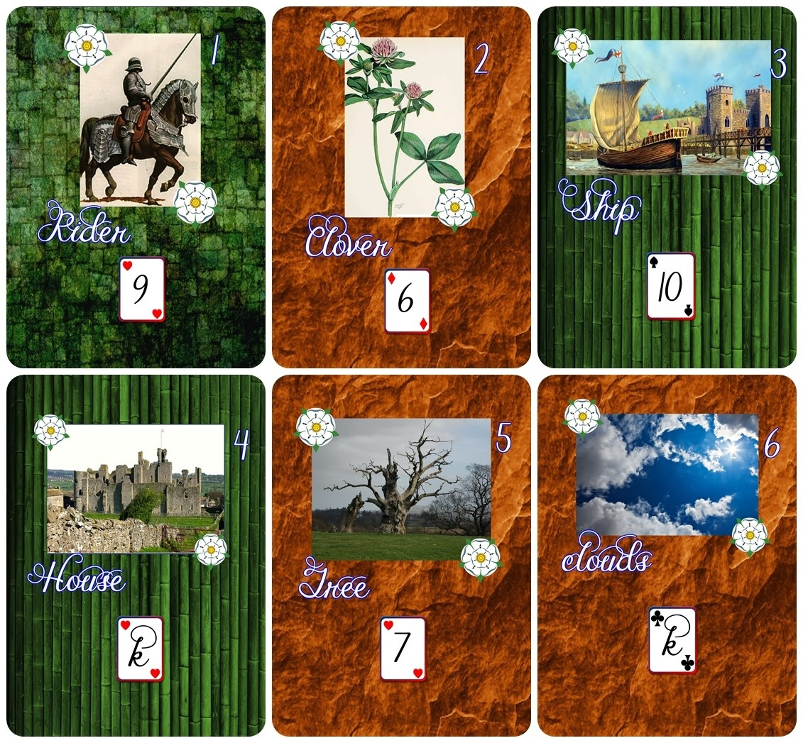 The Blessed Pagan : Yorkist Lenormand - Free - Free Printable Lenormand Cards
