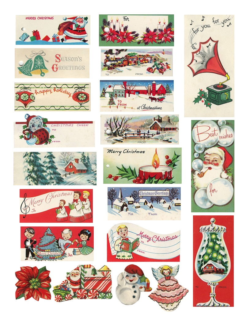 The Cheeky Seagull: Free Printable Vintage Christmas Tags!! - Free Printable Vintage Christmas Images