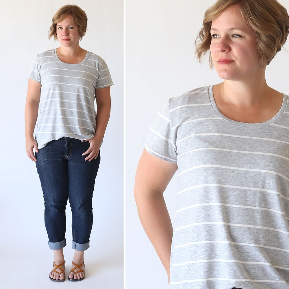 The Classic Tee In A Relaxed Fit | Diy Clothes | Sewing Tutorials - Free Printable Plus Size Sewing Patterns