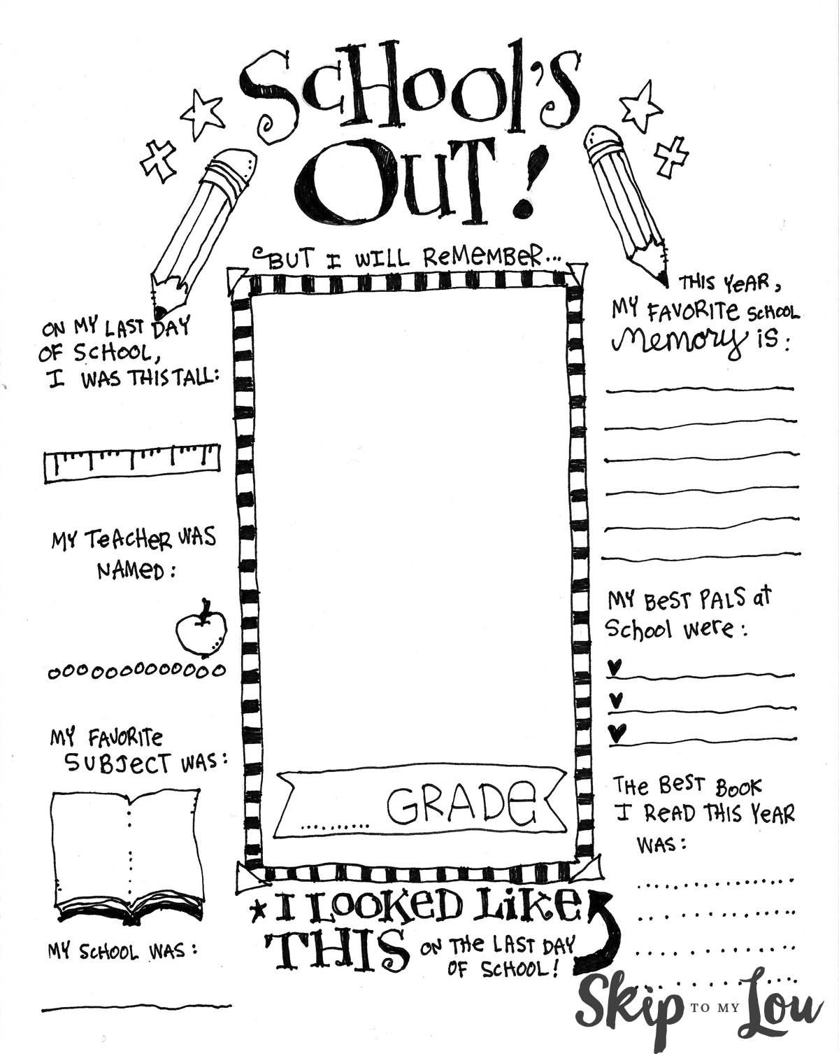 The Coolest Free Printable End Of School Coloring Page | 2Nd Grade - Free End Of School Year Printables