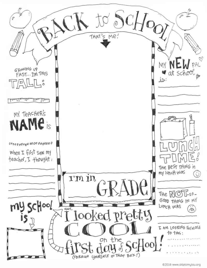 The Coolest Free Printable End Of School Coloring Page   Skip To My Lou - Free Printable First Day Of School Coloring Pages