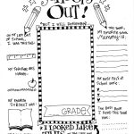 The Coolest Free Printable End Of School Coloring Page | Skip To My Lou   Free Printable Memory Book Templates
