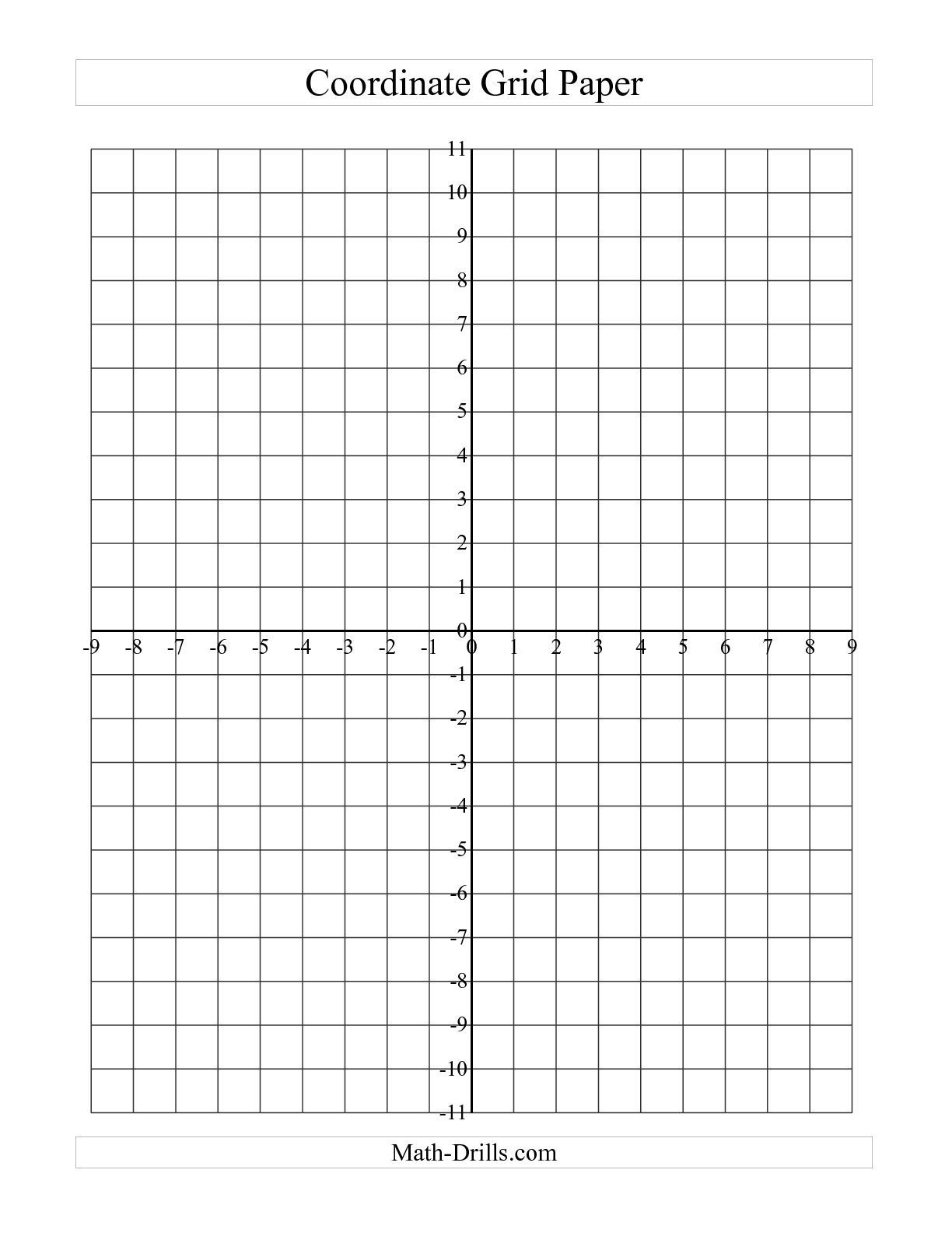 The Coordinate Grid Paper (Large Grid) (A) Math Worksheet From The - Free Printable Coordinate Grid Worksheets
