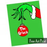 The Grinch Free Art Printable For Christmas   Printables 4 Mom   Free Grinch Printables