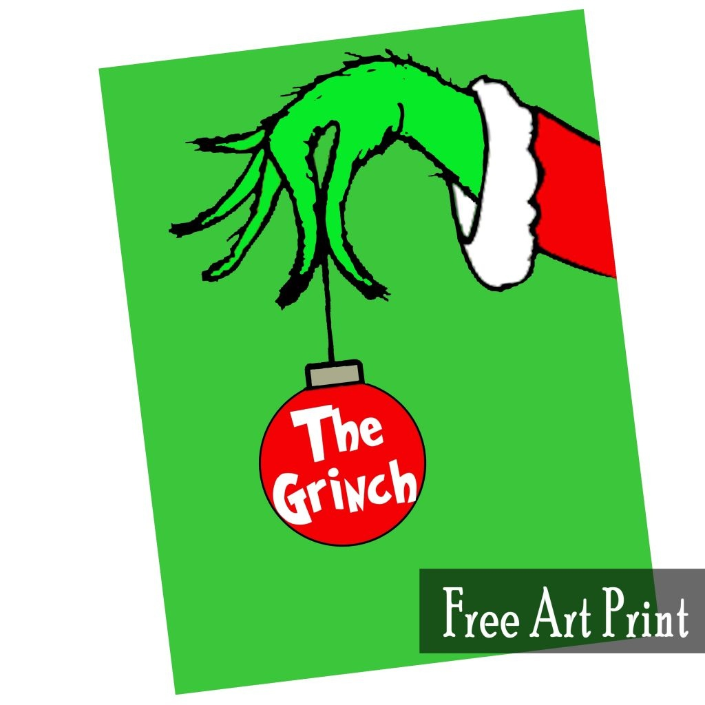The Grinch Free Art Printable For Christmas - Printables 4 Mom - Free Grinch Printables