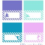 The Little Mermaid Fold Over Templates {Free Printables}. Also Take   Free Printable Mermaid Tags