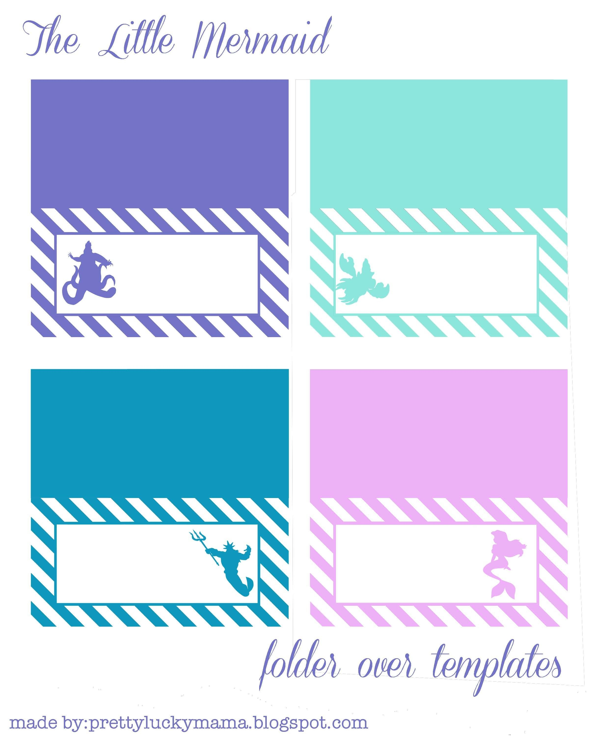 The Little Mermaid Fold Over Templates {Free Printables}. Also Take - Free Printable Mermaid Tags