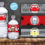 The Party Project | Cars 3 Party Printables | Cars Birthday Set   Free Printable Cars Water Bottle Labels