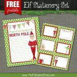 The Polka Dot Posie: Free Printables For Your Christmas Elf   North Pole Stationary Printable Free