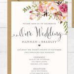 The Surprising Free Printable Wedding Invitation Templates For Word   Free Printable Wedding Invitation Templates For Word