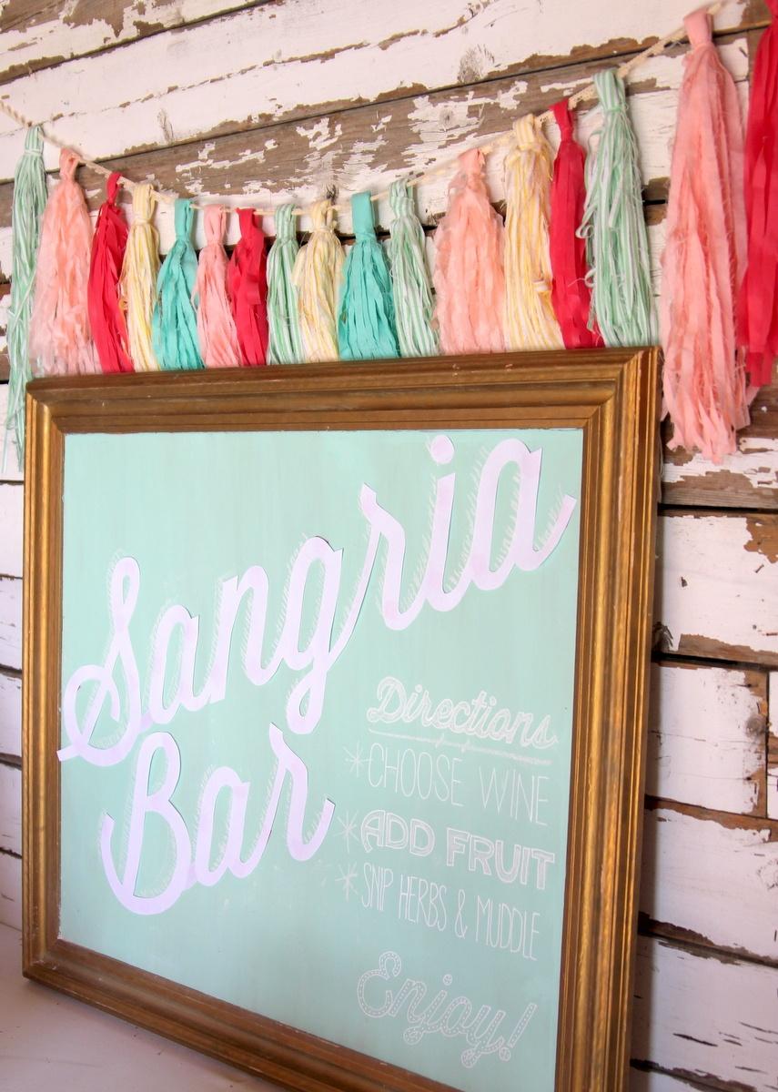 The Ultimate Sangria Bar- Summer's Best Drink Station - Free Sangria Bar Sign Printable