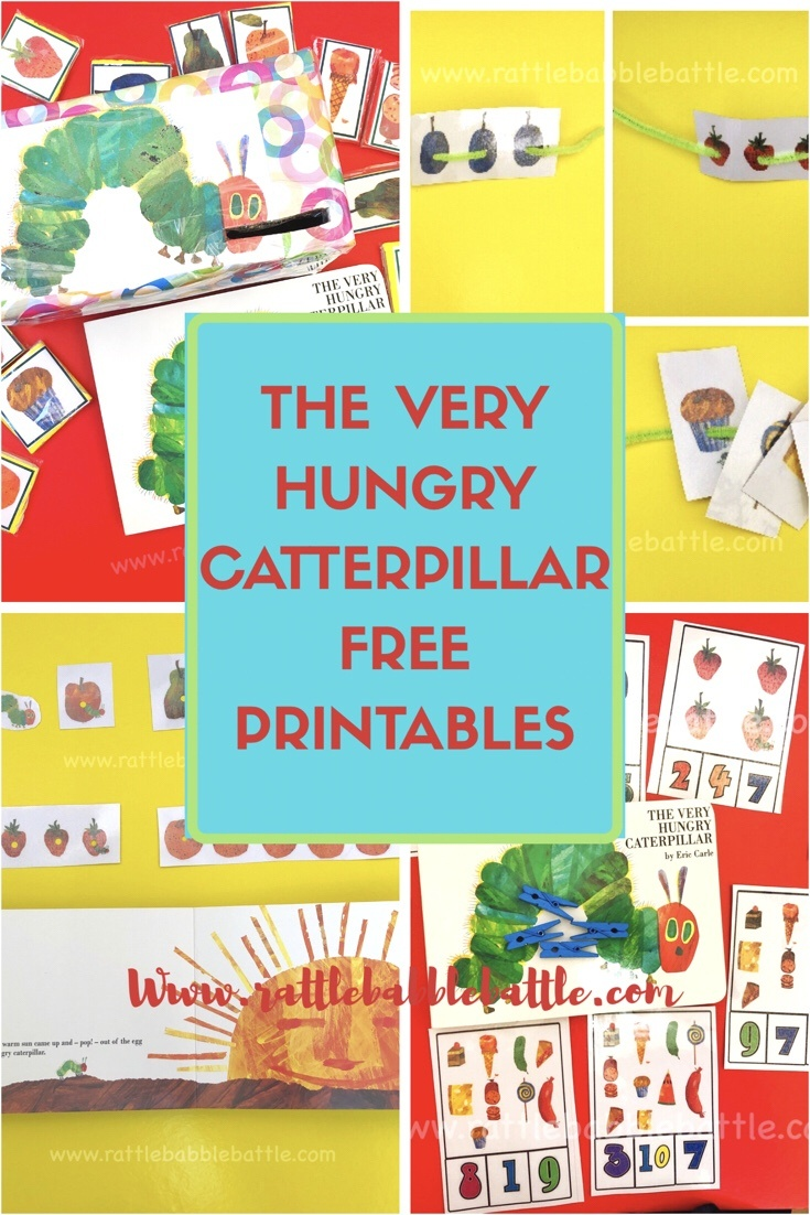 The Very Hungry Caterpillar Free Printables Bundle - Rattle Babble - The Very Hungry Caterpillar Free Printables