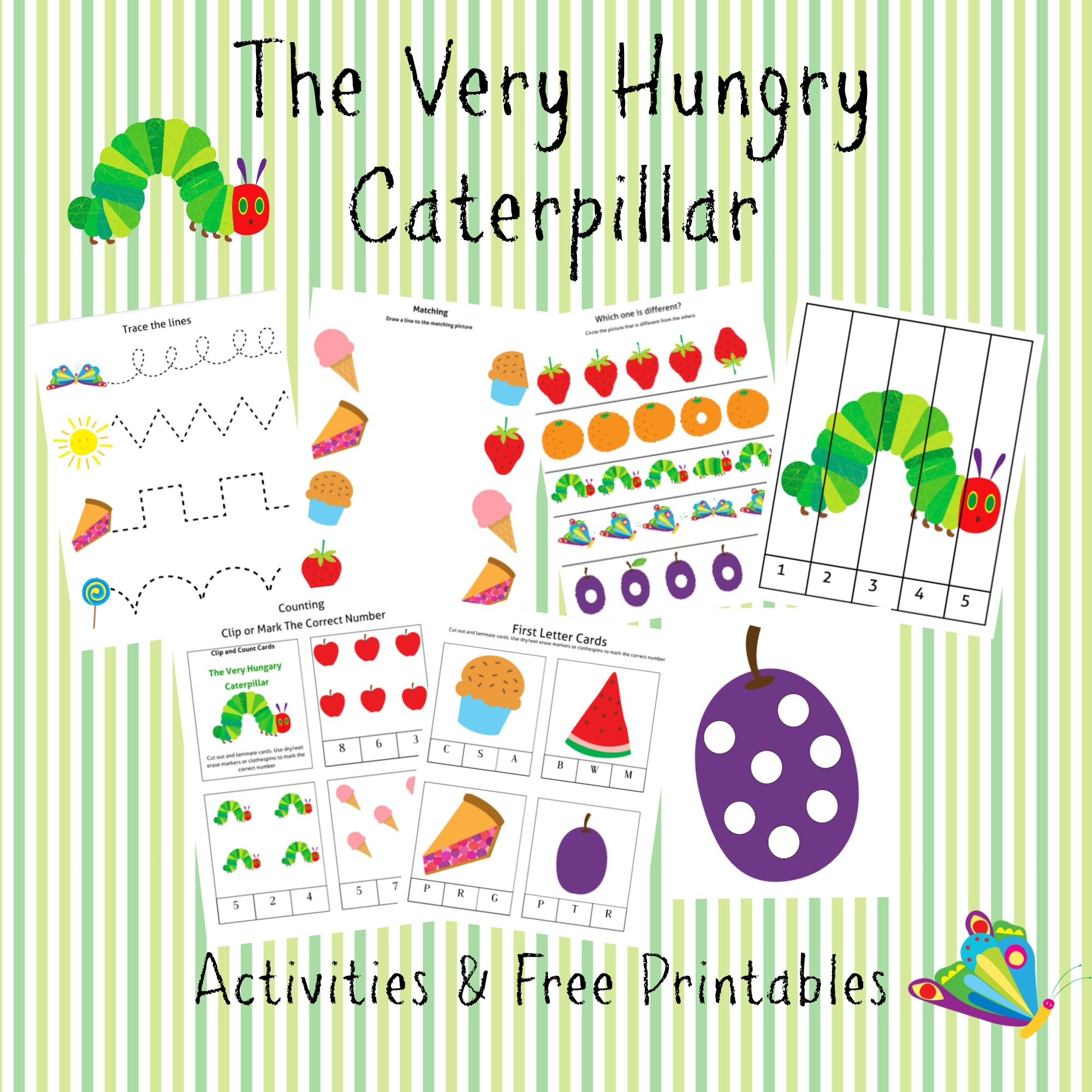 The Very Hungry Caterpillar Printable - 96 Total Pages - The Very Hungry Caterpillar Free Printables