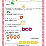 The Very Hungry Caterpillar Worksheet   Free Esl Printable   The Very Hungry Caterpillar Free Printables