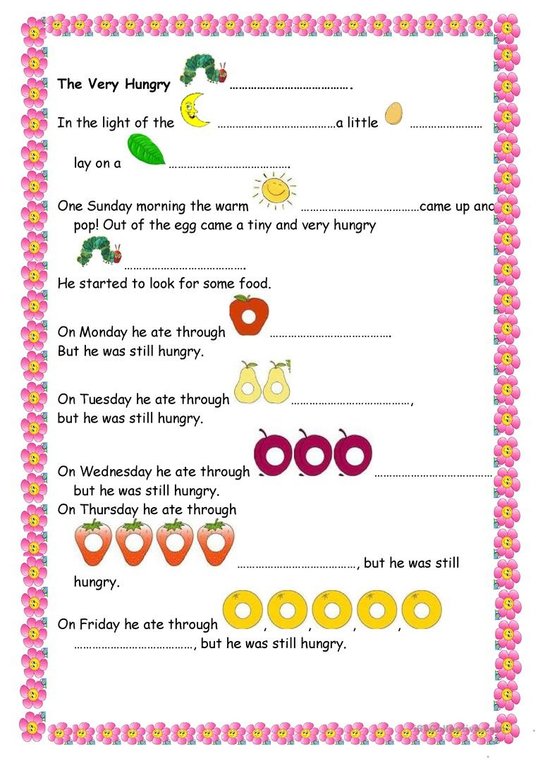 The Very Hungry Caterpillar Worksheet - Free Esl Printable - The Very Hungry Caterpillar Free Printables