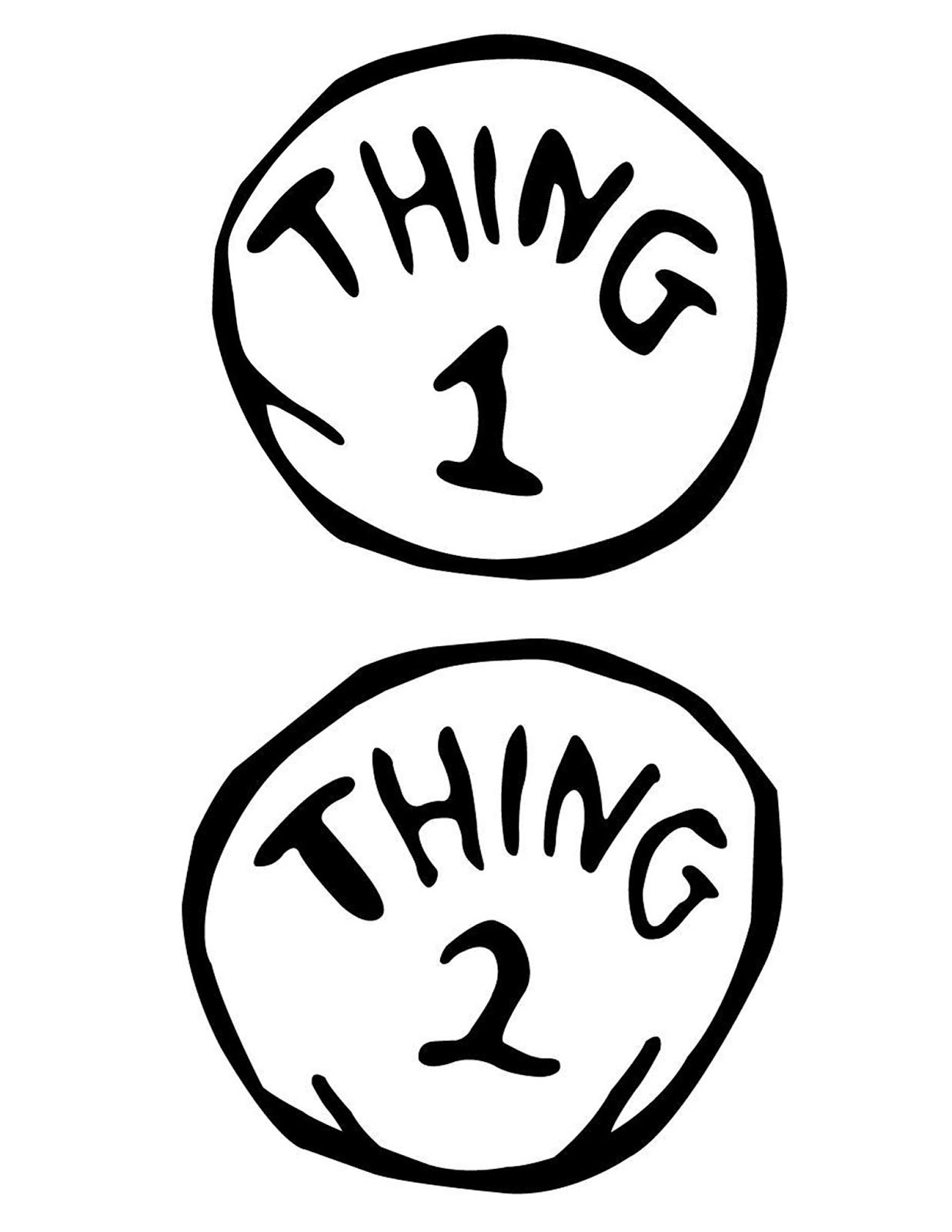 Thing 1 And Thing 2 Printable | Free Download Best Thing 1 And Thing - Thing 1 Thing 2 Free Printables
