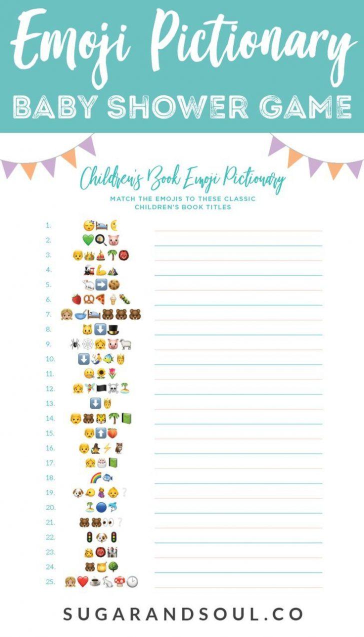 Emoji Bridal Shower Game Free Printable