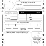 This Is A Number Of The Day Worksheet That My Colleague And I   Free Printable Number Of The Day Worksheets